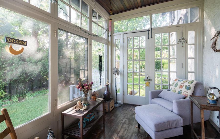 house for sale renovated Lansdowne foursquare sun porch