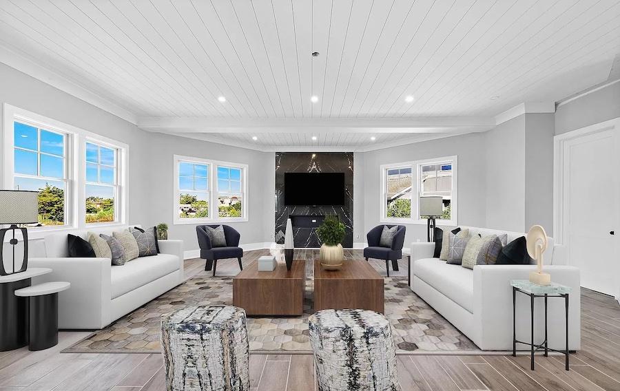 house for sale lagoonside Loveladies new construction living room