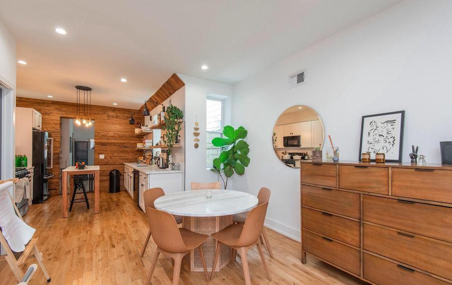 house for sale Dickinson Square West renovated row dining room