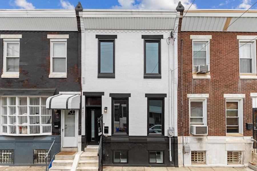 house for sale Dickinson Square West renovated row exterior front