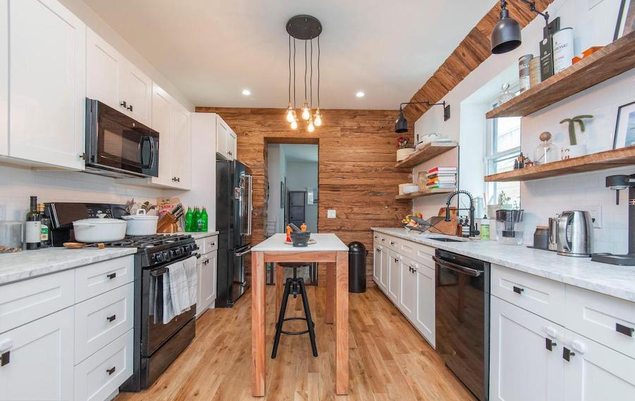 house for sale Dickinson Square West renovated row kitchen