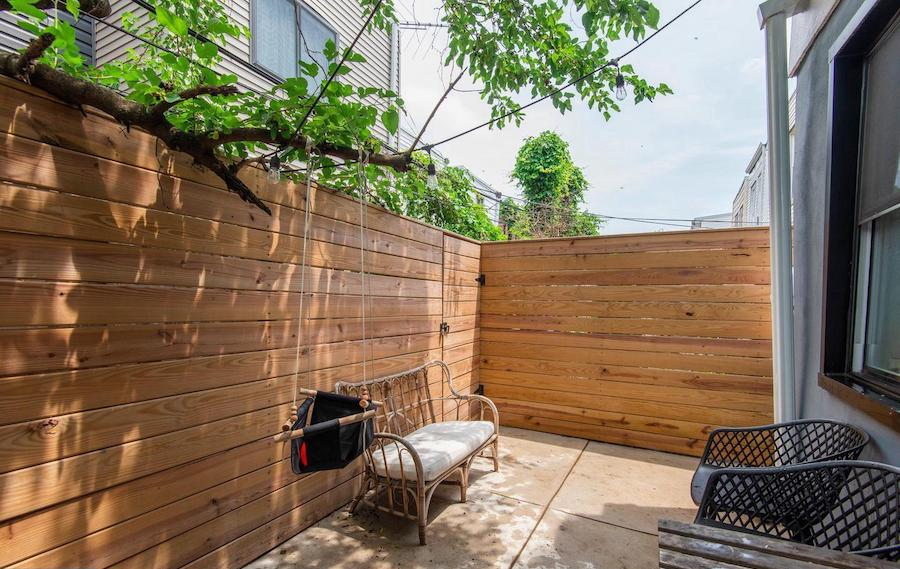 house for sale Dickinson Square West renovated row rear patio