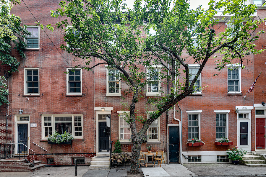 house for sale Rittenhouse Addison Street townhouse exterior front