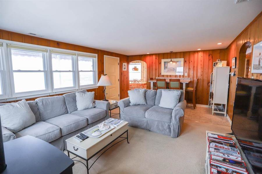 house for sale stone harbor midcentury ranch living room