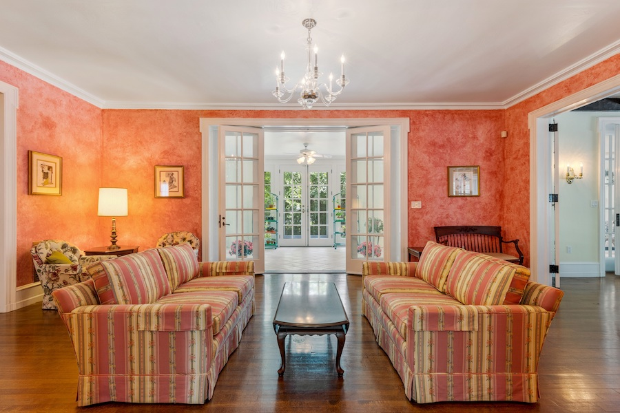 house for sale Horace Trumbauer Wyncote colonial reception room