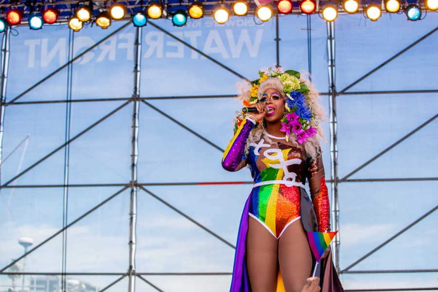 A performer at the 2019 Philly Pride celebration