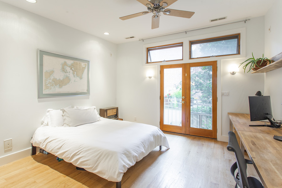 second-floor rear bedroom