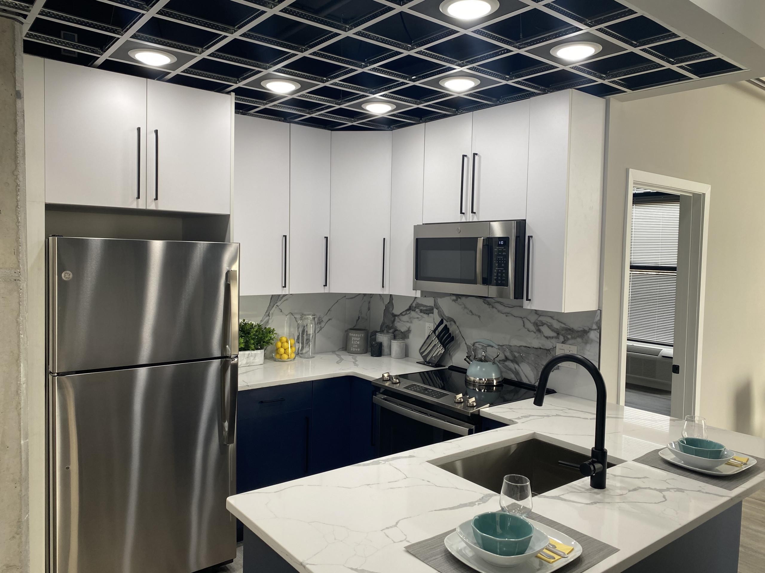 j street lofts phase 2 profile model apartment kitchen