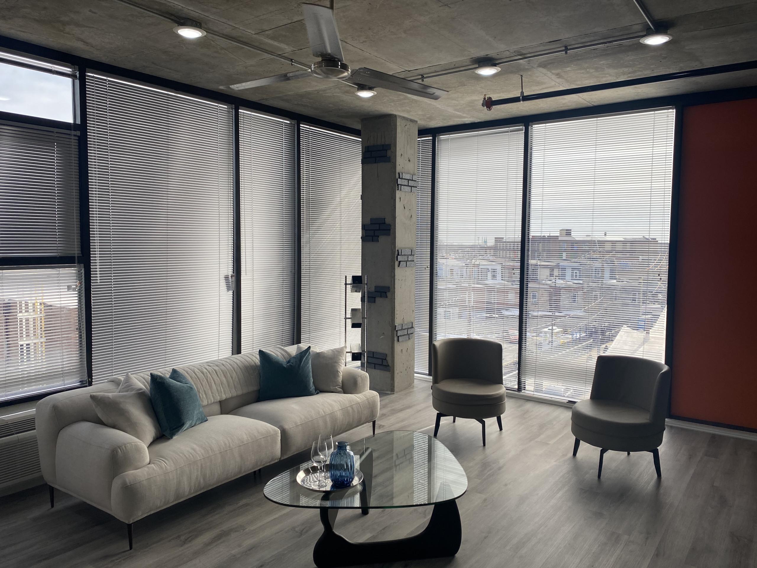 j street lofts phase 2 profile model apartment living room