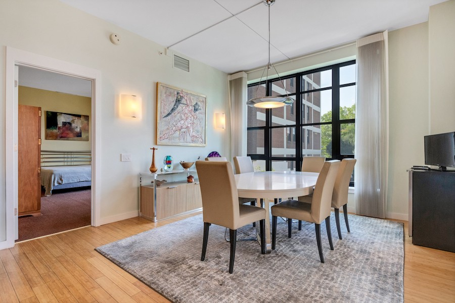 condo for sale old city modern dining room