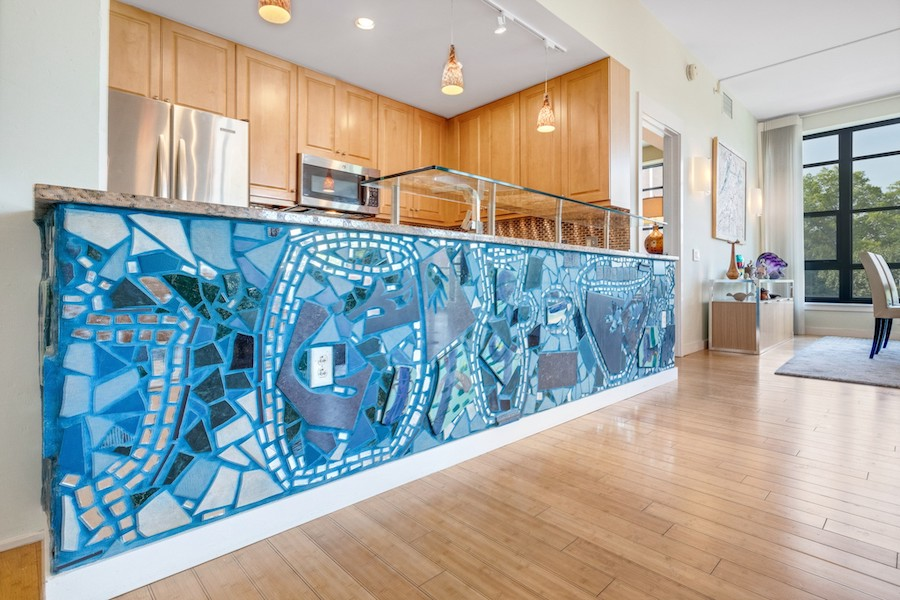 condo for sale old city modern Isaiah Zagar mosaic