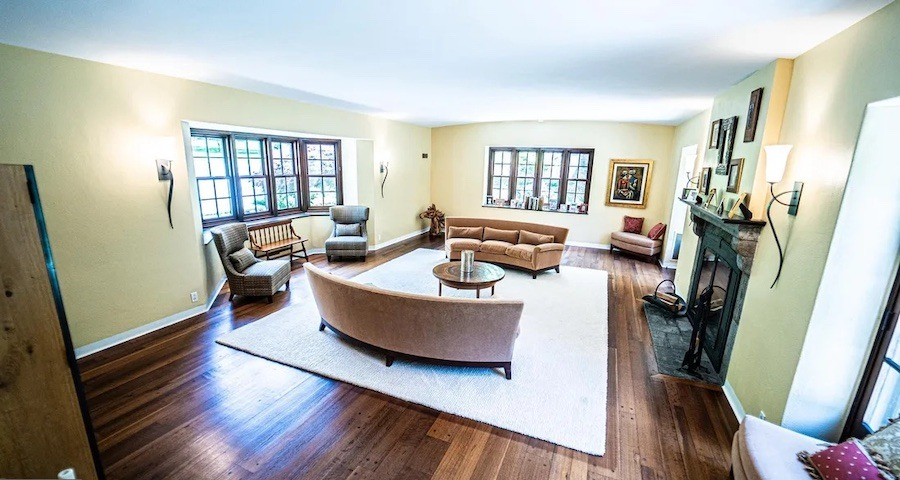 house for sale East Falls Norman manor living room