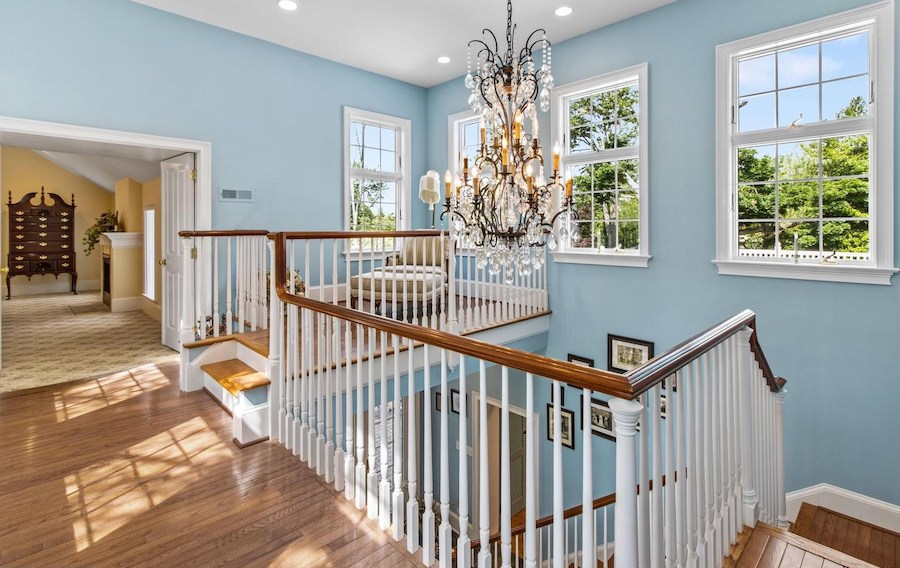 house for sale huntingdon valley expanded farmhouse foyer