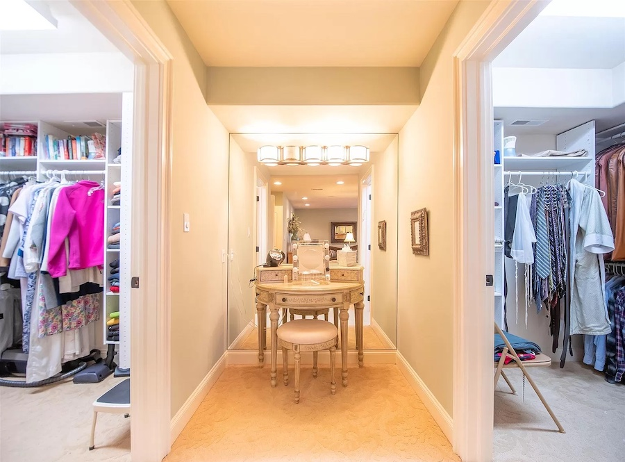 dressing room and closets