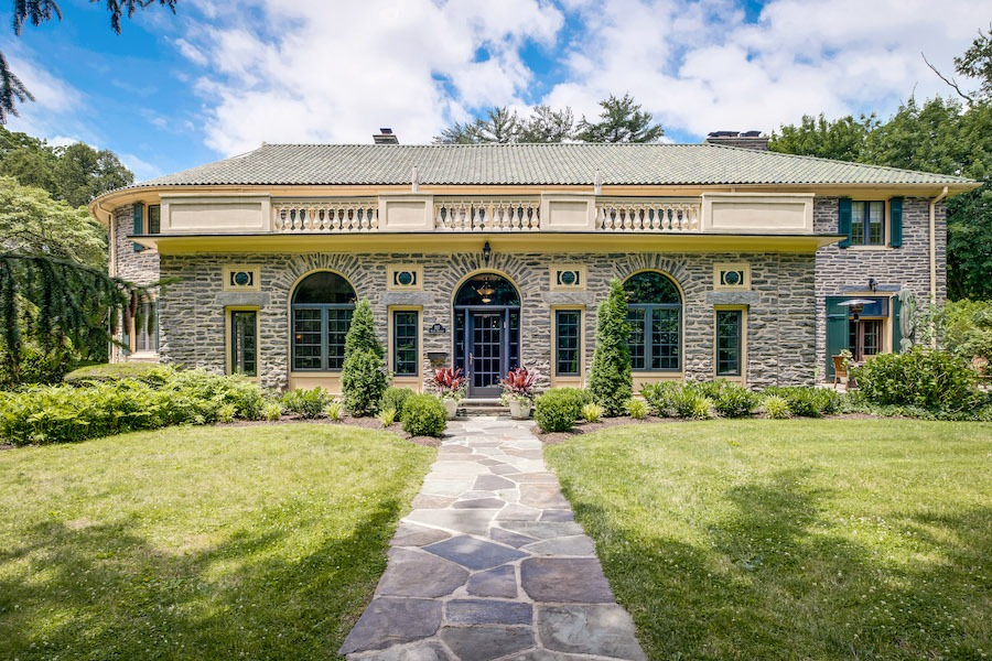 house for sale Merion Station Italianate street elevation