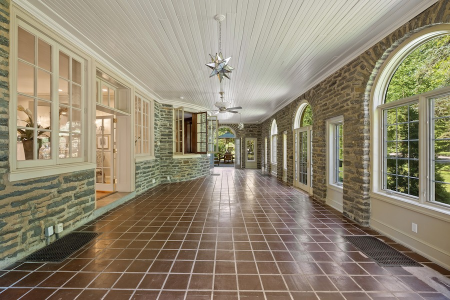 house for sale Merion Station Italianate sun porch