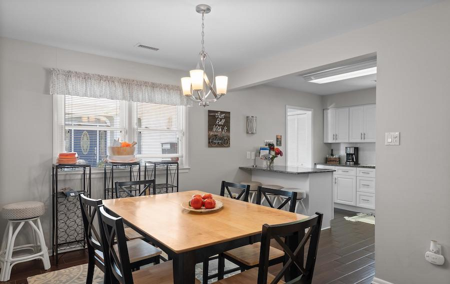 houses for sale Ocean City waterfront duo 4 Granada Court dining room