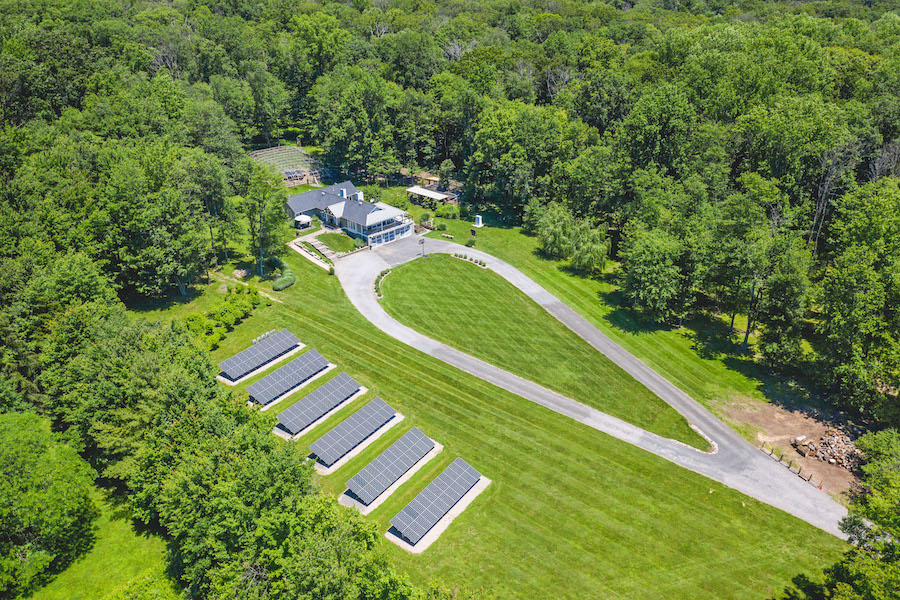 house for sale Pennington off-grid aerial view