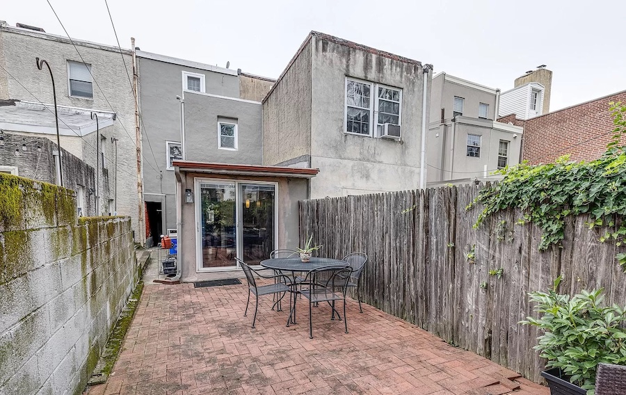 rear patio and elevation