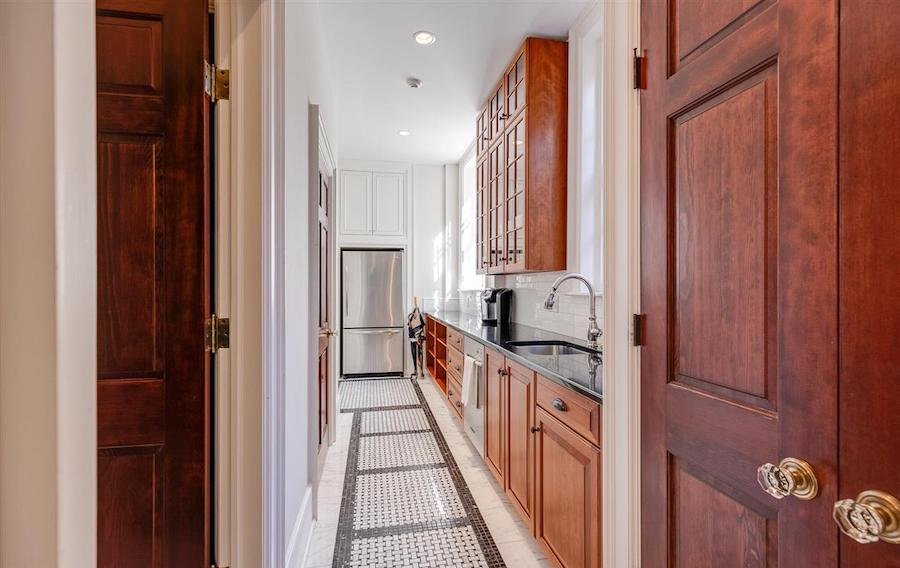 house for sale Delancey Street rebuilt townhouse catering kitchen