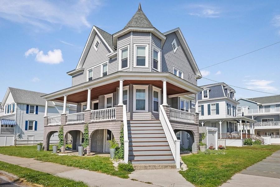 house for sale sea isle city shingle style exterior corner perspective