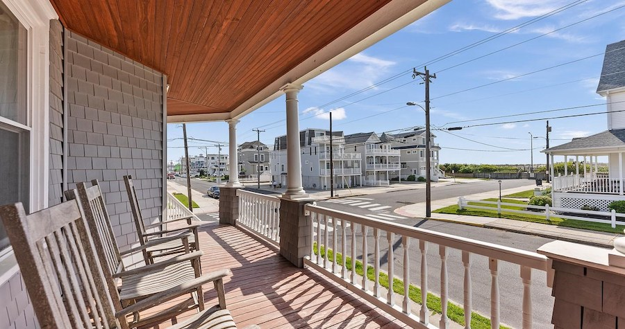 house for sale sea isle city shingle style view from porch