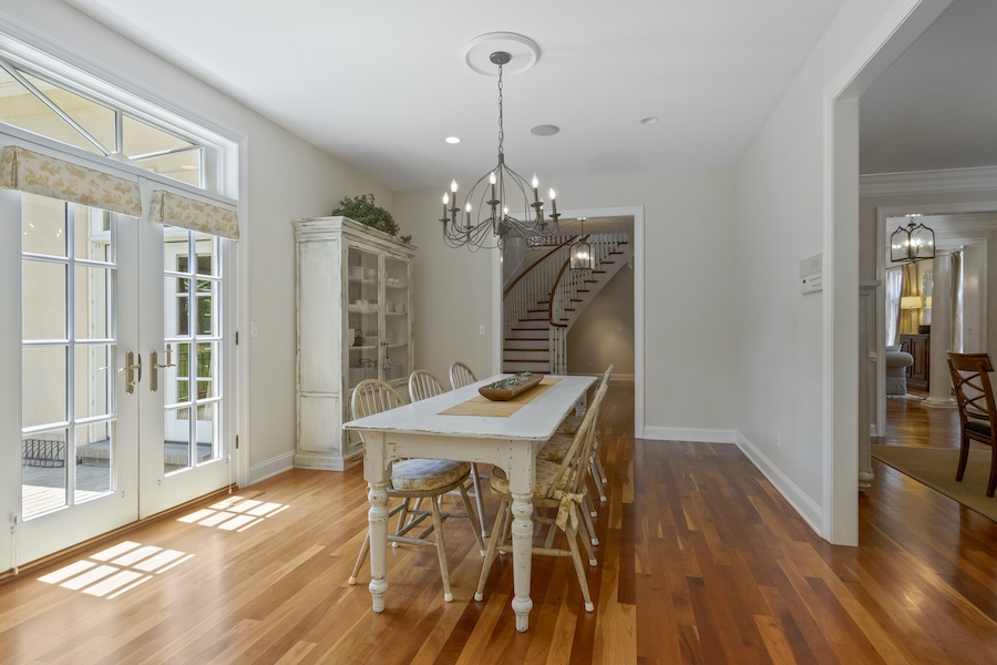 house for sale Greenville Norman manor casual dining room