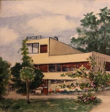 watercolor of Villa Rug