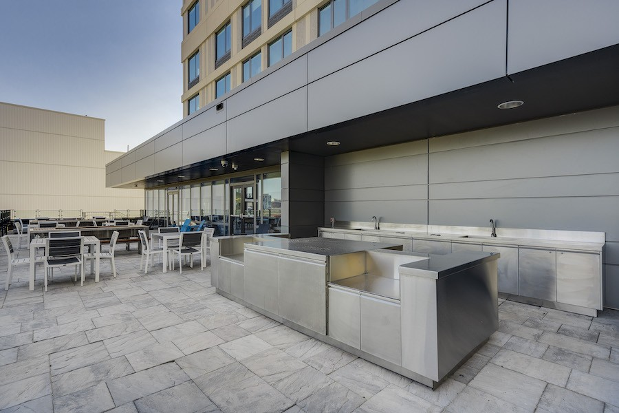 broadridge opening outdoor kitchen and dining area