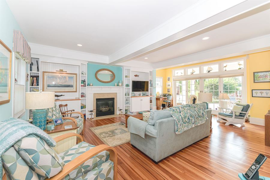 house for sale historic Cape May Victorian living room
