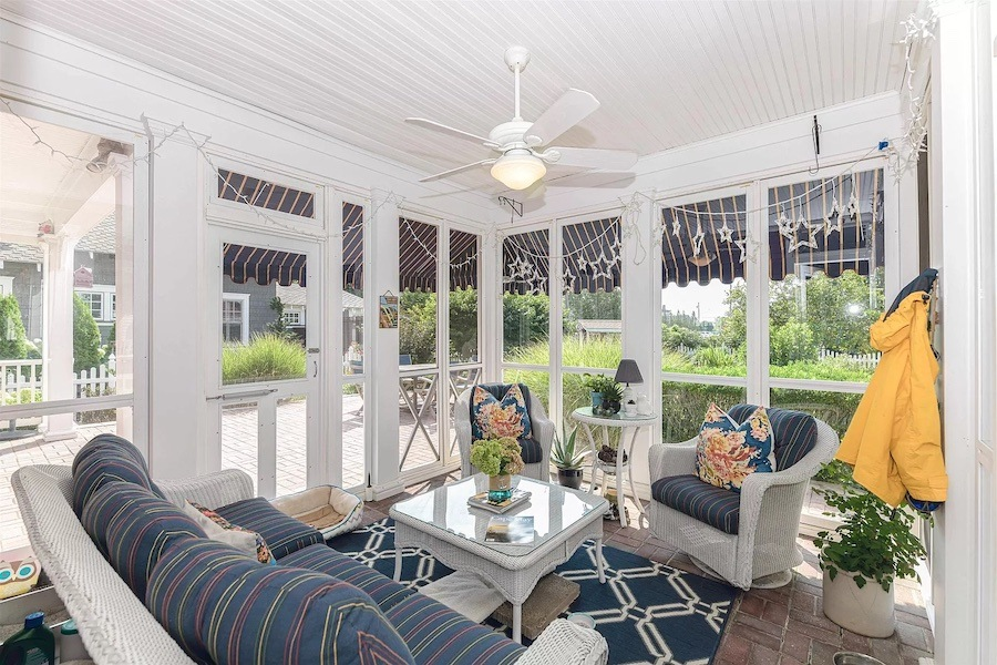 house for sale historic Cape May Victorian four-season room