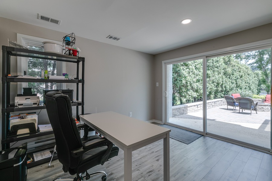 house for sale Gladwyne riverside contemporary home office