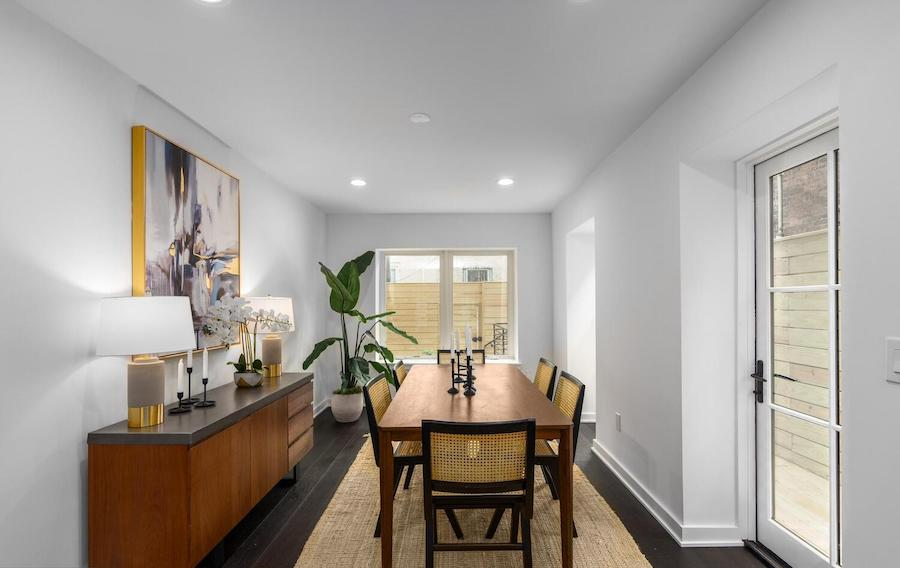 house for sale graduate hospital rebuilt rowhouse dining room