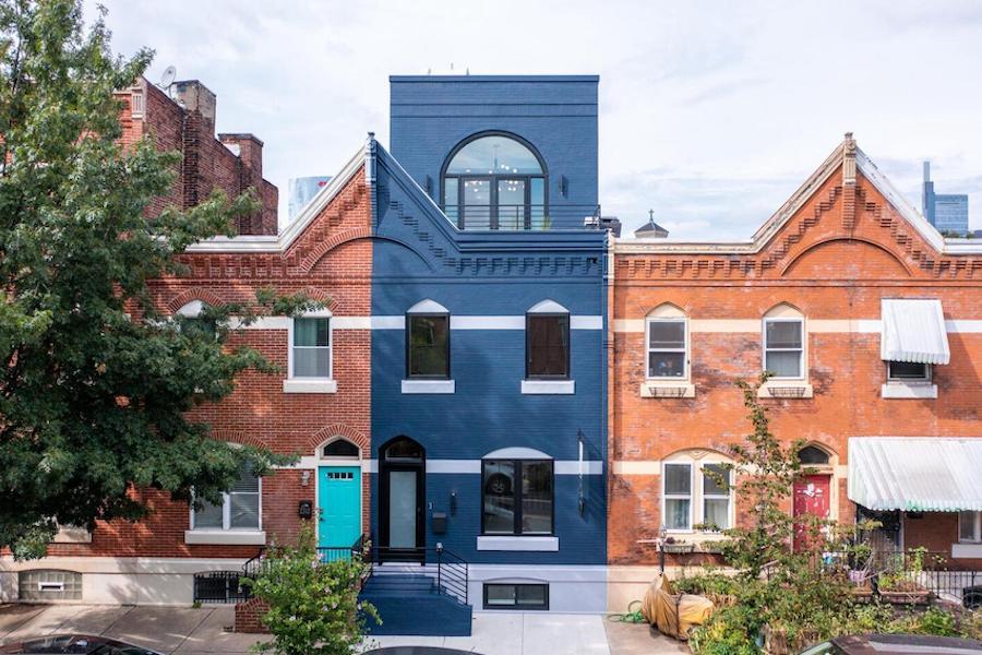 house for sale graduate hospital rebuilt rowhouse exterior front