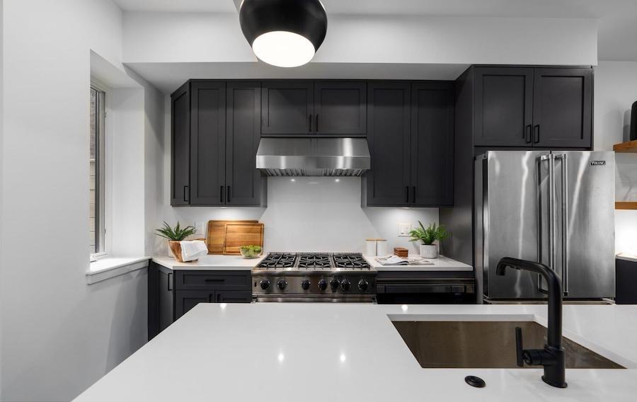 house for sale graduate hospital rebuilt rowhouse kitchen