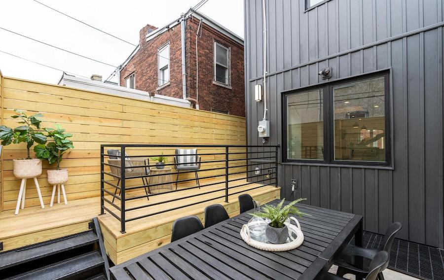 house for sale graduate hospital rebuilt rowhouse rear patio