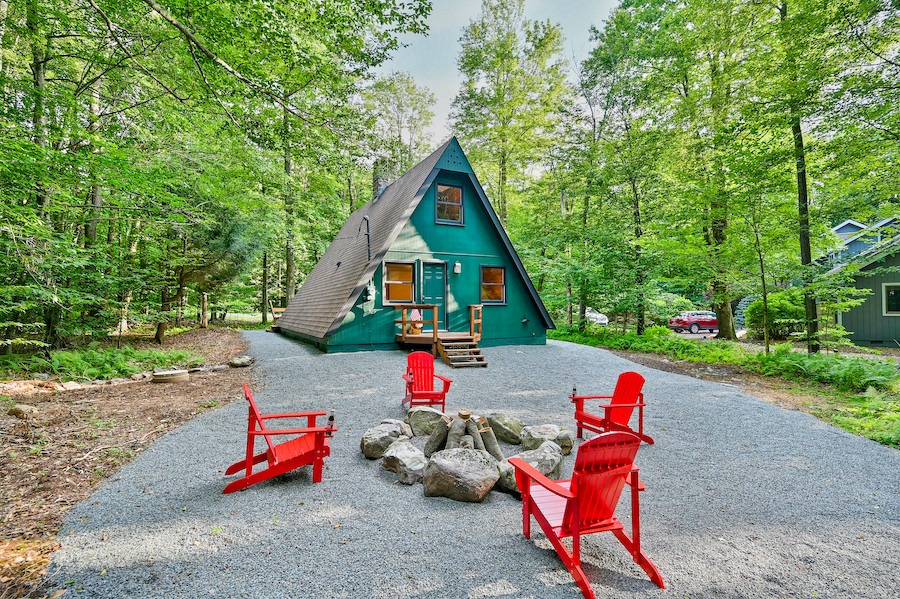 Backyard and rear elevation