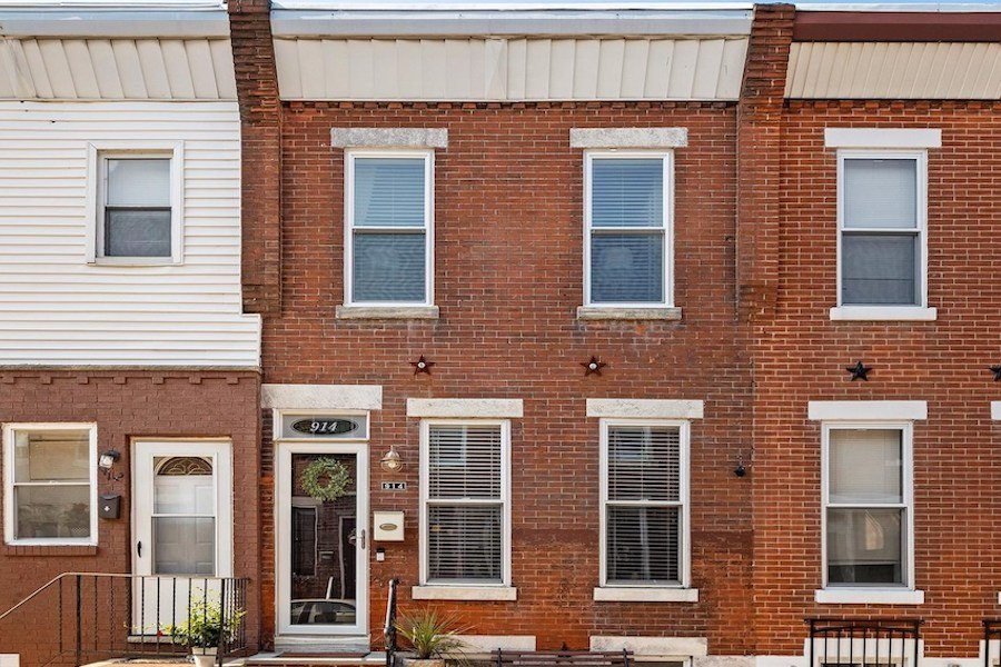 house for sale renovated lower moyamensing rowhouse exterior front