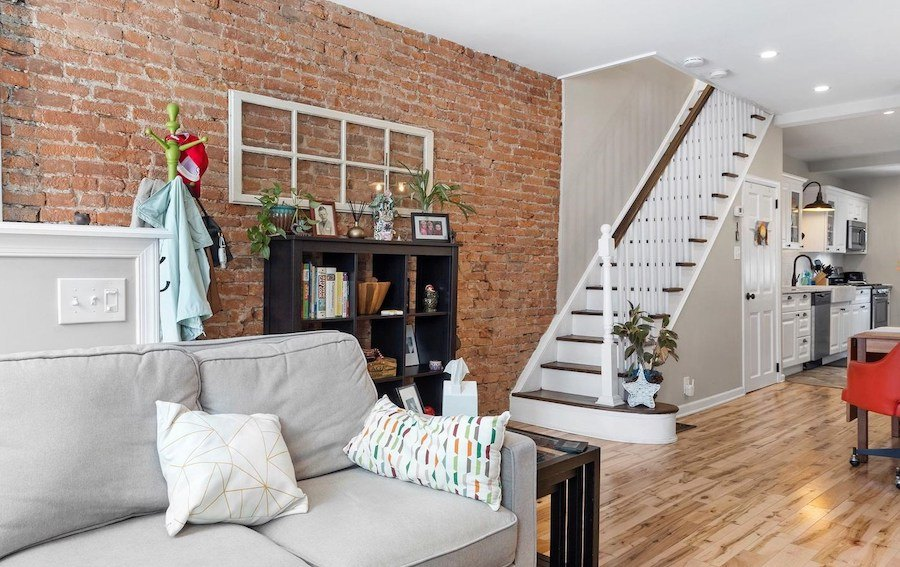 house for sale renovated lower moyamensing rowhouse main floor