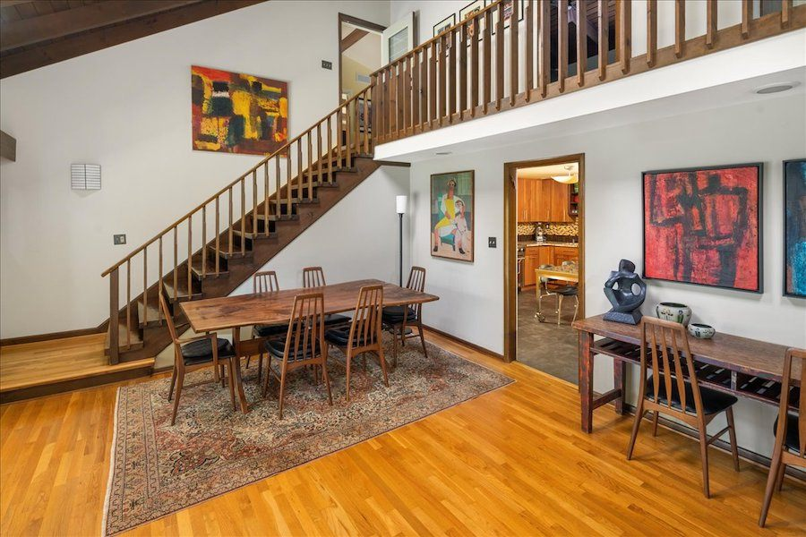 house for sale new hope midcentury modern dining room