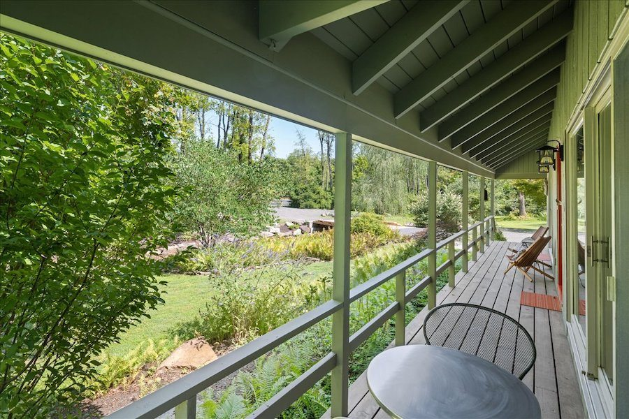 house for sale new hope midcentury modern front porch