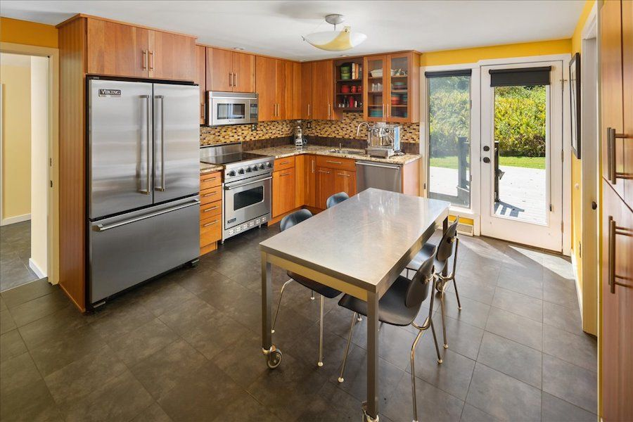 house for sale new hope midcentury modern kitchen