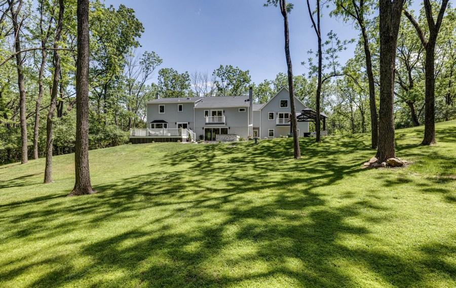 rear elevation and backyard