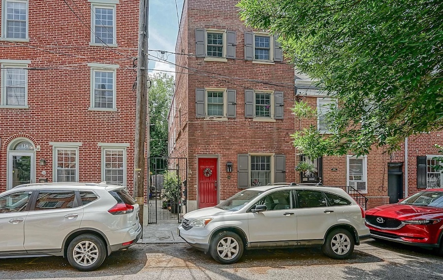 house for sale queen village courtyard trinity street elevation
