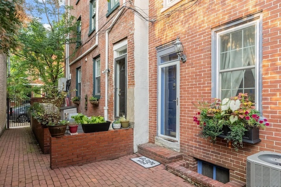 house for sale queen village double trinity front entrance