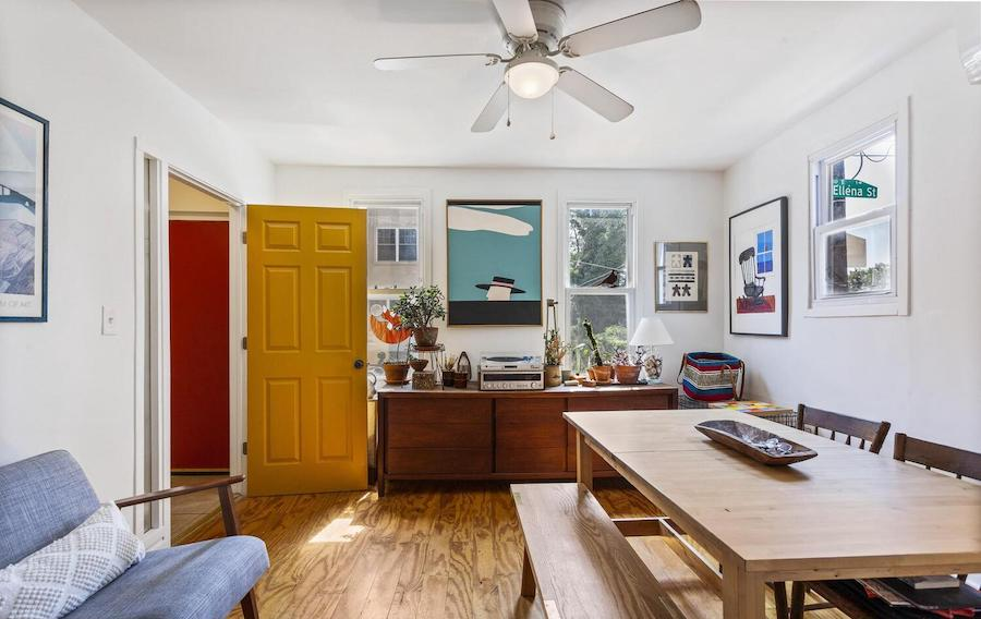 renovated mt. airy house for sale living room