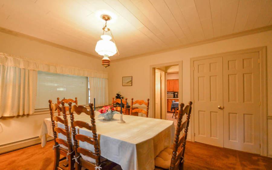 house for sale saylorsville stone farmhouse dining room