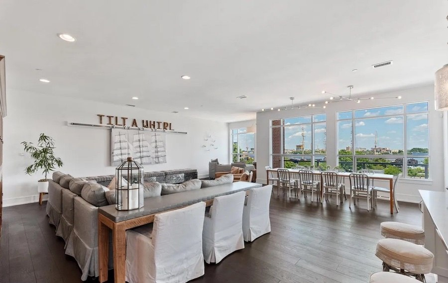 condo for sale society hill head house square unit living and dining room