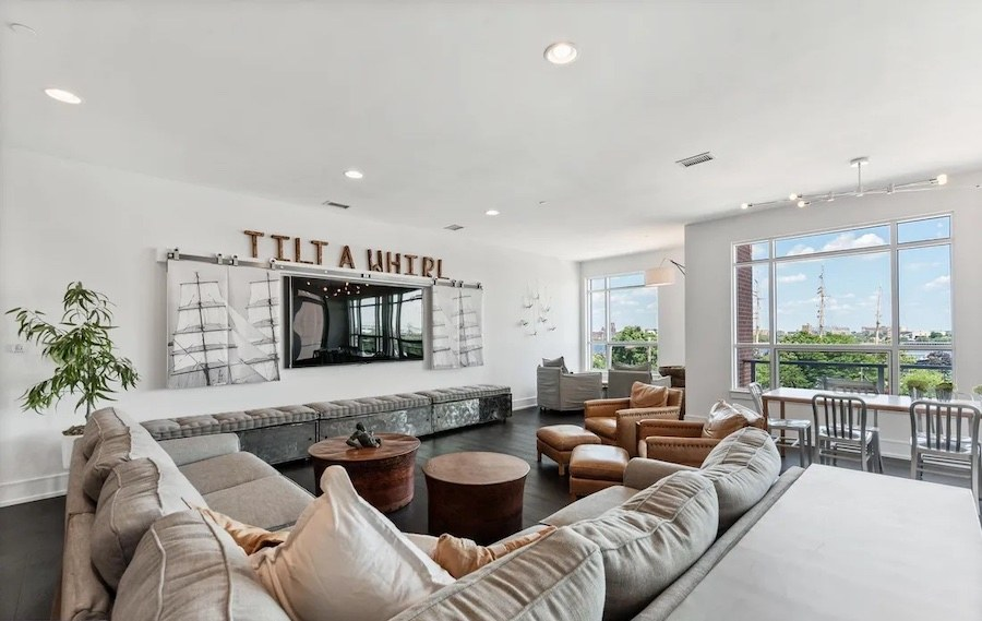 condo for sale society hill head house square unit living room