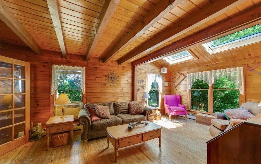 house for sale Stowe custom farmhouse living room